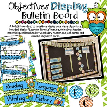 Objectives Bulletin Board: Owl Theme