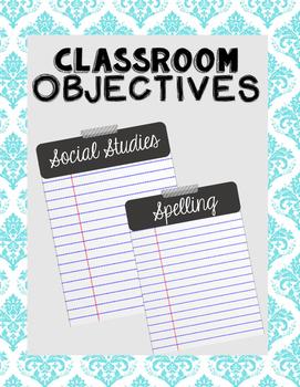 Objectives Board // Gray + White //
