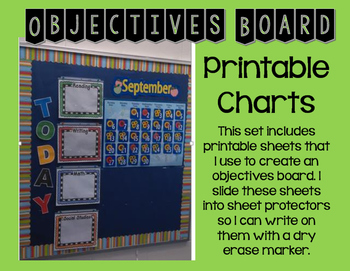 Objectives Board Printables