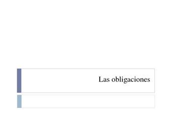 Obligaciones y Trabajo / Obligations and Work