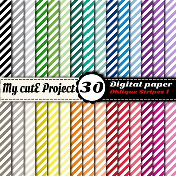 Oblique Stripes 1 -DIGITAL PAPER - Instant Download - Scra