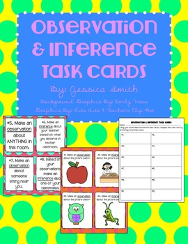 Observation and Inference Task Cards