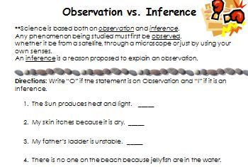 Worksheets Observation And Inference Worksheet collection of observation inference worksheet sharebrowse worksheets for school