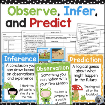 Making Observations, Inferences, and Predictions