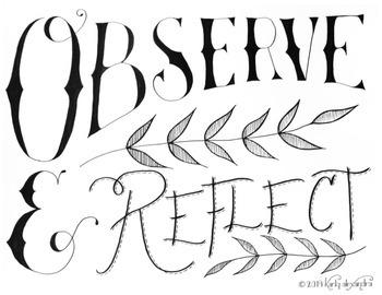 Observe & Reflect Poster