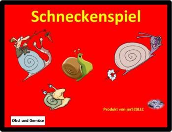 Obst und Gemüse (Fruits and Vegetables in German) Schnecke