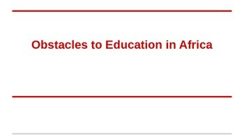 Obstacles in Education - Africa
