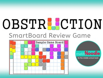 Obstruction SmartBoard Review Game