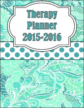 Occupational, Physical or Speech Therapy Planner 2015-2016