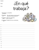 Occupations (speaking & writing  activity)