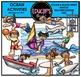 Ocean Activities Clip Art Bundle {Educlips Clipart}