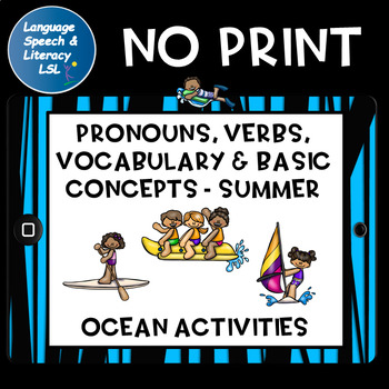 Ocean Activities to Learn Pronouns, Verbs, and Basic Conce