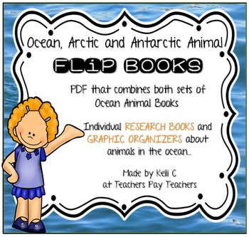 Flip Book BUNDLE- Both Ocean, Arctic & Antarctic Animals Together