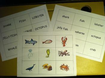 Ocean Animal Memory Matching Card Game