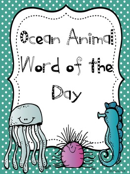 Ocean Animal Word of the Day