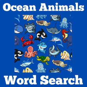 Ocean Animals Activity   Ocean Animals Word Search   Ocean