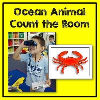 Ocean Animal Count the Room Math Center