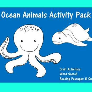 Ocean Animals Activity | Ocean Animals Worksheets | Ocean
