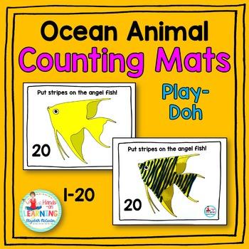 Ocean Animal Play-Doh Counting Mats