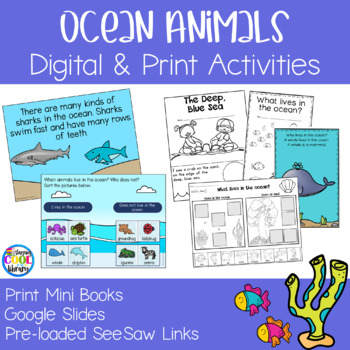 Ocean Animals Mini Books