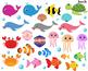Ocean Animals Clipart,Ocean Theme,Under the Sea Clipart,Di