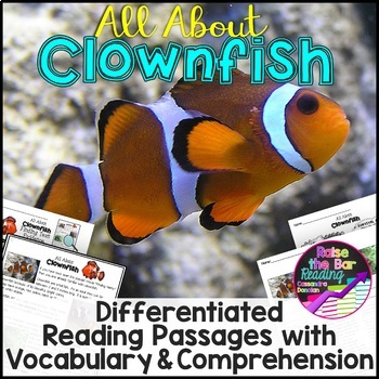 Ocean Animals Reading: Clownfish Differentiated Reading Pa