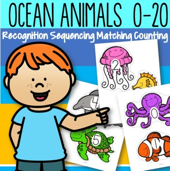Ocean Animals Counting 0-20 Free