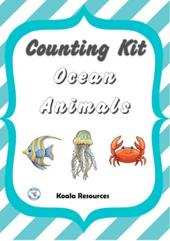 Ocean Animals Counting Kit Counting to 20 Centers