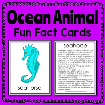 Ocean Animal Fun Fact Cards (informational text)