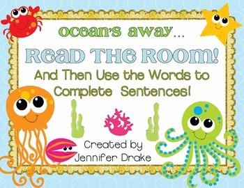 Ocean Animals Read the Room!  Use Words to Complete Senten