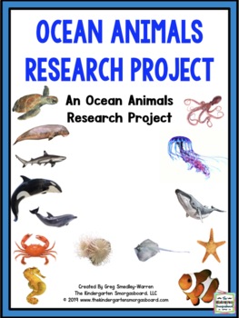 Ocean Animals Research Creation With Math And Literacy Centers