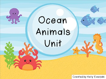 Ocean Animals Unit - Dive in!