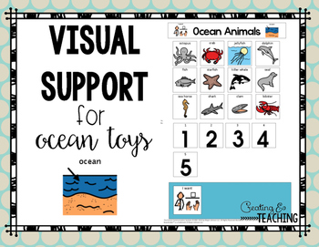 Ocean Animals Visual Support {for Autism}