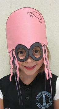 Ocean Beach Jellyfish Sentence Strip Hat Mask