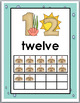 Ocean Theme Number Posters Numbers 11-20 with Ten Frames -