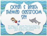 Ocean & Beach Classroom Decor Set