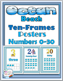 Ocean Theme - Numbers 1-30 Posters with Ten Frames