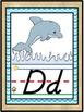 D'Nealian Ocean Beach Under the Sea Themed Alphabet Line {