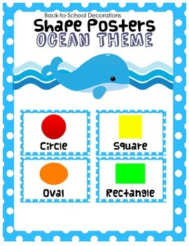 Ocean Blue Polka-dot Shape Posters