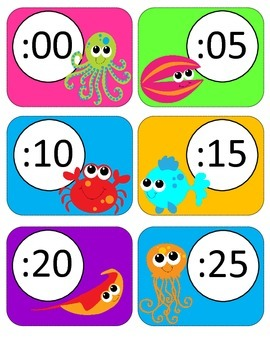 Ocean Clock Labels