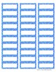 "Ocean Colors EDITABLE Avery 1"" x 2 5/8"" Labels (7 sheets o"