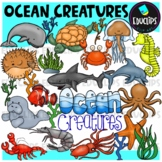 Ocean Creatures Clip Art Bundle