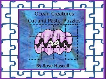 Ocean Animals Kindergarten Special Education Science Cut a
