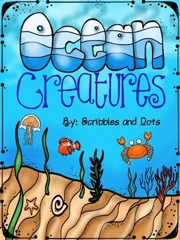 Ocean Creatures ~ Literacy Activities