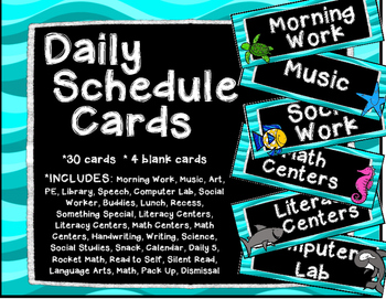 Ocean Daily Schedule Cards