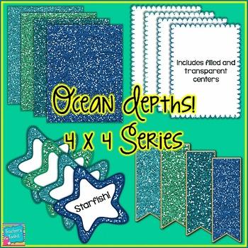 Ocean Depths! Mini Seller Starter Pack Clip Art CU OK {4444}