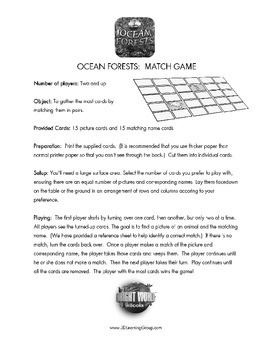 Ocean Forests Memory Game