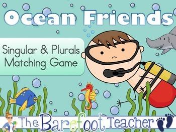 Ocean Singular & Plurals Matching Game