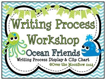 Ocean Friends Writing Process Workshop Displays & Clip Chart