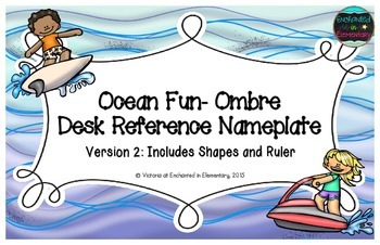 Ocean Fun Ombre Desk Reference Nameplates Version 2